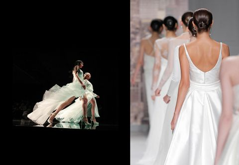 Clothing, Dress, Bridal clothing, Photograph, Gown, Formal wear, Wedding dress, Fashion, Bridal accessory, One-piece garment,