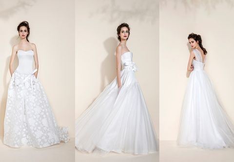 Clothing, Sleeve, Dress, Shoulder, Textile, Photograph, White, Standing, Formal wear, Gown,