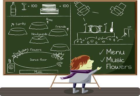 Blackboard, Handwriting, Animation, Chalk, Writing, Education, Circle, Illustration, Pianist, Animated cartoon,