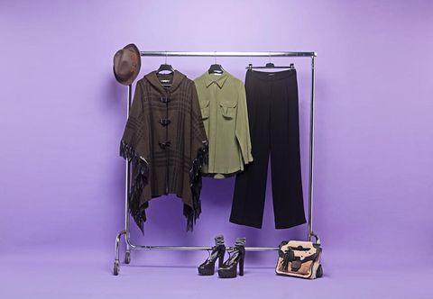 Sleeve, Collar, Purple, Lavender, Fashion, Violet, Costume design, Fashion design, Pattern,