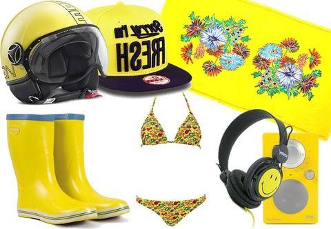 Yellow, Personal protective equipment, Cap, Sports gear, Headgear, Helmet, Costume accessory, Baseball cap, Audio accessory, Boot,