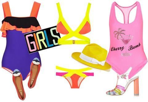 Yellow, Pink, Font, Costume accessory, Magenta, Clip art, Illustration, Artwork, Graphics, Costume,