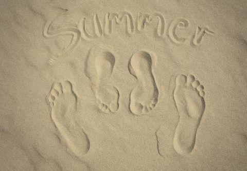 Sand, Footprint, Building material,