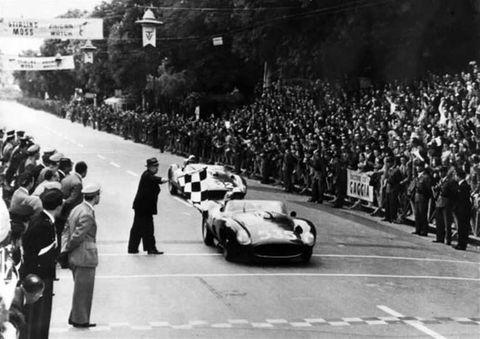 Vehicle, Crowd, Car, Classic car, Performance car, Sports car, Race car, Monochrome, Motorsport, Auto racing,