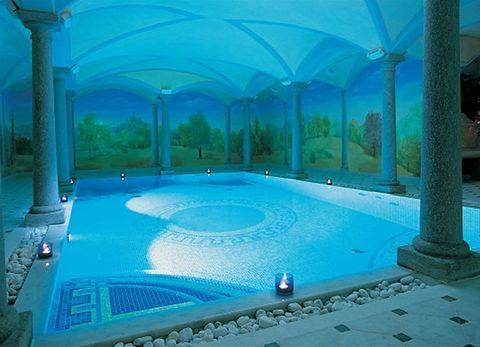Blue, Swimming pool, Fluid, Aqua, Majorelle blue, Azure, Turquoise, Shade, Teal, Composite material,
