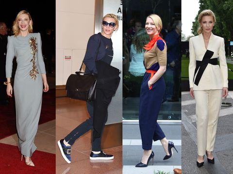 Clothing, Eyewear, Footwear, Trousers, Coat, Outerwear, Bag, Style, Formal wear, Street fashion,