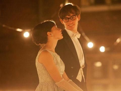 Ear, Glasses, Dress, Coat, Happy, Suit, Formal wear, Interaction, Love, Romance,