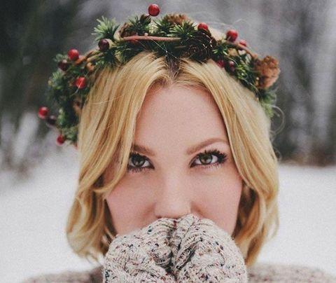 Winter, Hair accessory, Beauty, Headpiece, Knitting, Wool, Photography, Eyelash, Woolen, Crochet,