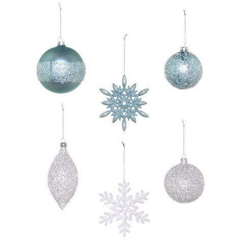 Blue, Christmas decoration, Christmas ornament, Holiday ornament, Earrings, Teal, Natural material, Aqua, Azure, Ornament,