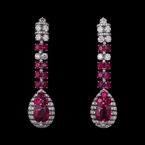 Magenta, Earrings, Pink, Jewellery, Purple, Violet, Fashion accessory, Body jewelry, Maroon, Ruby,