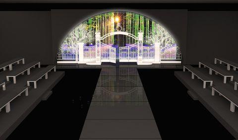 Arch, Light fixture, Symmetry, Animation, Arcade,