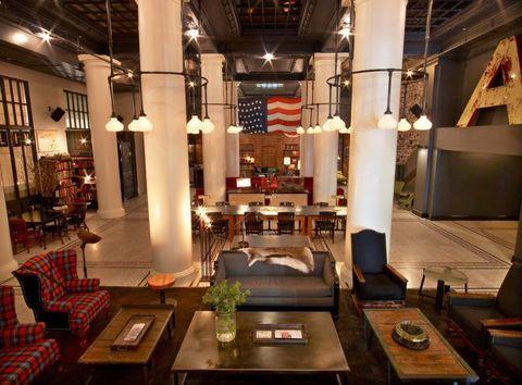 Lighting, Interior design, Room, Table, Ceiling, Furniture, Couch, Interior design, Light fixture, Living room,