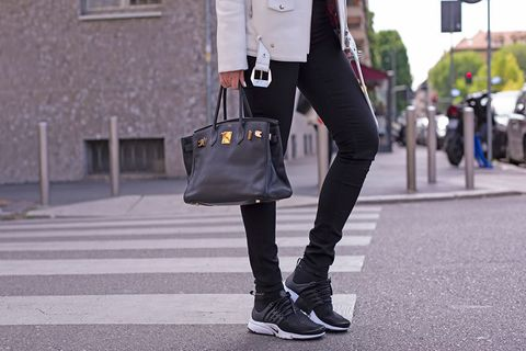 new arrivals ff35f c6c3d ... L outfit Street style con le Nike Air Presto Ultra Flyknit nere.