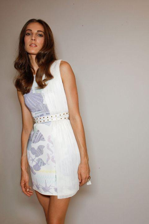 Dress, Sleeve, Shoulder, Joint, Human leg, One-piece garment, Elbow, Waist, Day dress, Cocktail dress,