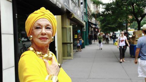 Yellow, Road, Street, Public space, Town, Turban, Pedestrian, Street fashion, Headgear, Travel,