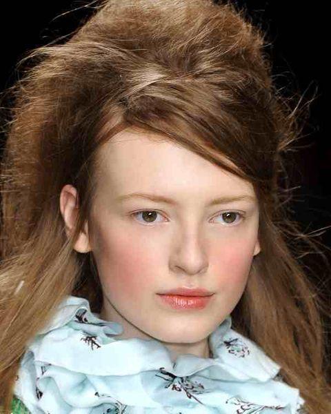 Face, Head, Nose, Lip, Cheek, Eye, Brown, Hairstyle, Collar, Chin,