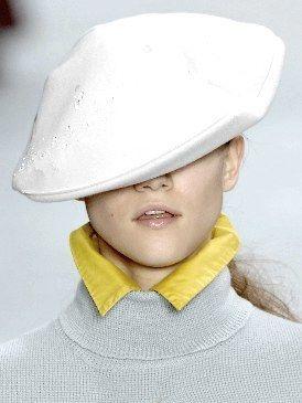 Lip, Cheek, Collar, Sleeve, Chin, White, Jaw, Headgear, Costume accessory, Fashion,