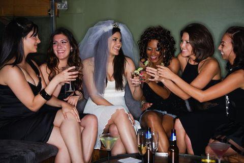 Hair, Arm, Smile, Fun, Mouth, Happy, Facial expression, Dress, Friendship, Fashion accessory,