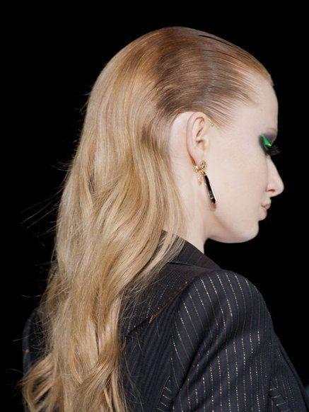 Earrings, Hairstyle, Style, Eyelash, Body piercing, Fashion, Long hair, Blond, Street fashion, Eye shadow,