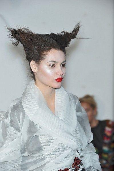 Lip, Hairstyle, Eyelash, Style, Headgear, Fashion, Costume accessory, Costume, Model, Makeover,
