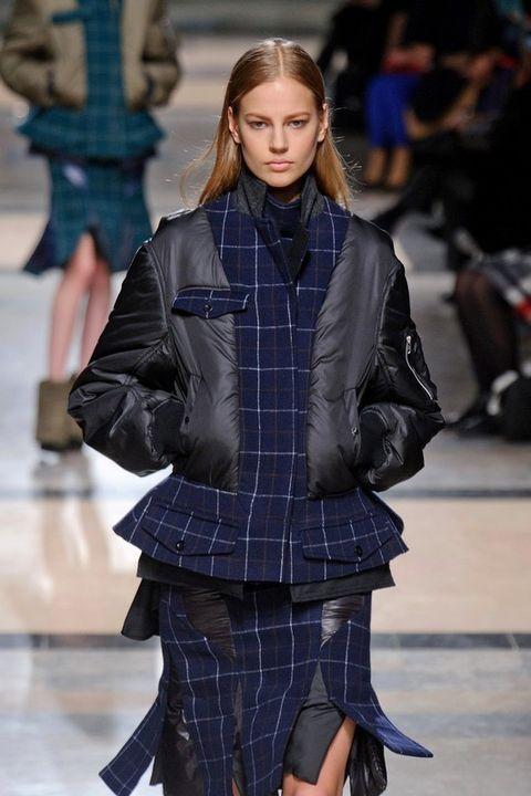 Jacket, Sleeve, Coat, Plaid, Textile, Tartan, Collar, Outerwear, Pattern, Style,