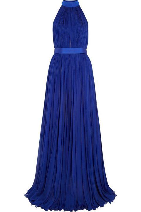 Clothing, Blue, Dress, Textile, One-piece garment, Formal wear, Electric blue, Cobalt blue, Azure, Aqua,