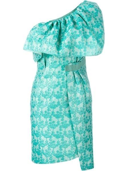 Blue, Sleeve, Green, Textile, Teal, Turquoise, Aqua, Pattern, Dress, One-piece garment,