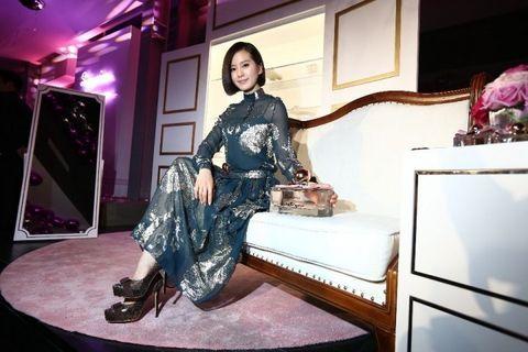 Room, Purple, Interior design, Dress, Magenta, Interior design, Violet, Picture frame, Bed frame, Door,