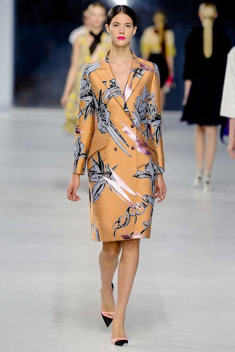 Clothing, Fashion show, Human body, Shoulder, Dress, Runway, Joint, Fashion model, Style, One-piece garment,