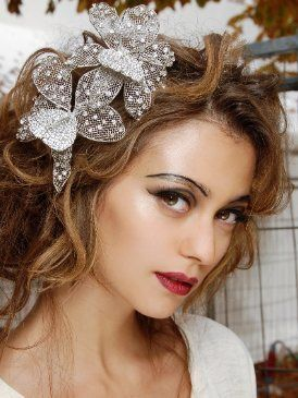 Lip, Brown, Hairstyle, Chin, Forehead, Eyebrow, Hair accessory, Headpiece, Eyelash, Style,
