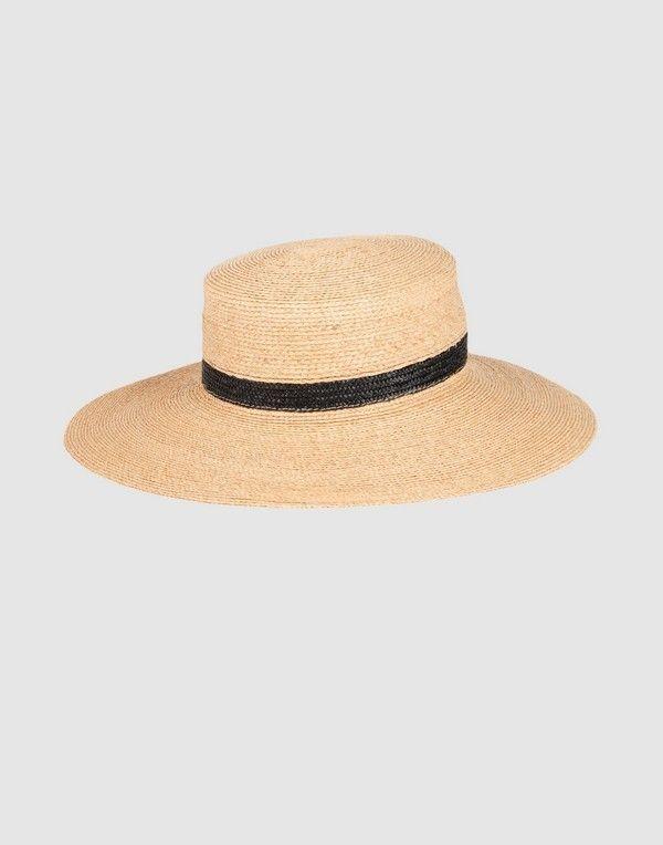 Cappelli a tesa larga in paglia e cotone 9013b1fc47fc