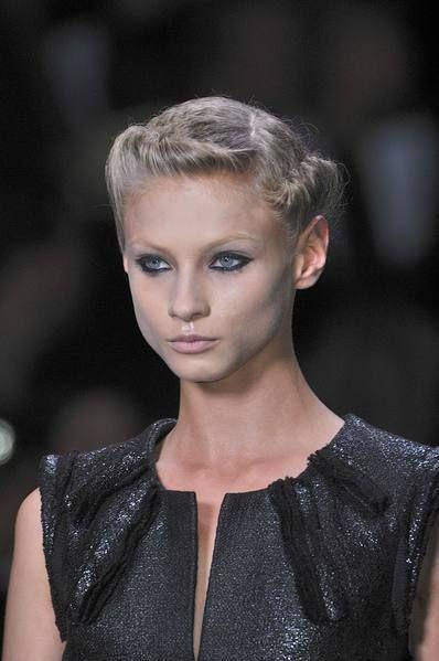Clothing, Head, Ear, Lip, Hairstyle, Eyelash, Style, Fashion, Fashion model, Neck,