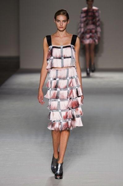 Clothing, Footwear, Fashion show, Shoulder, Dress, Joint, Runway, Fashion model, One-piece garment, Style,