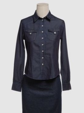 Blue, Product, Dress shirt, Collar, Sleeve, Shoulder, Textile, Standing, White, Formal wear,