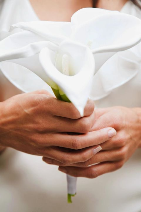 Finger, Hand, Petal, Nail, Gesture, Cut flowers, Wedding ceremony supply, Artificial flower, Bride, Love,