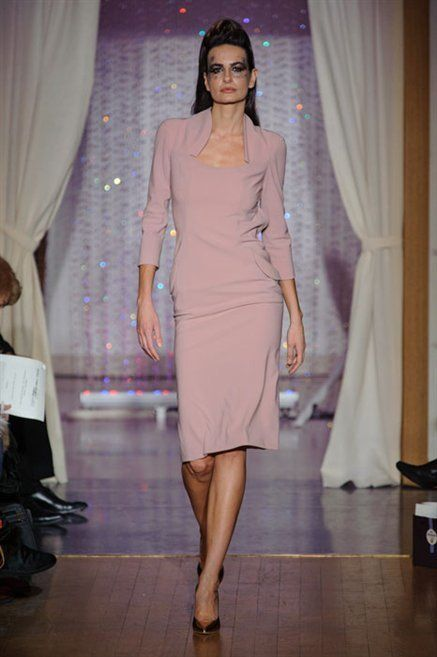 Shoulder, Fashion show, Human leg, Textile, Joint, Dress, Runway, Interior design, Style, Curtain,