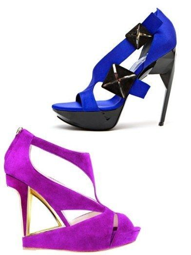 Footwear, High heels, Sandal, Purple, Basic pump, Fashion, Electric blue, Cobalt blue, Court shoe, Fashion design,