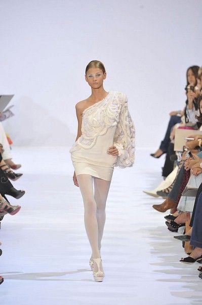 Clothing, Fashion show, Shoulder, Runway, Waist, Style, Fashion model, Formal wear, Dress, Fashion,
