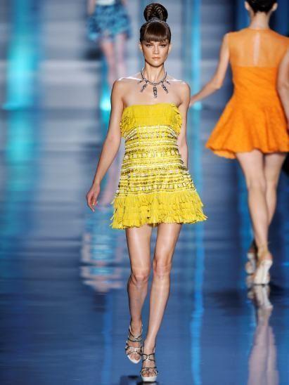 Clothing, Dress, Shoulder, Joint, Human leg, Fashion show, Waist, Style, One-piece garment, Fashion model,
