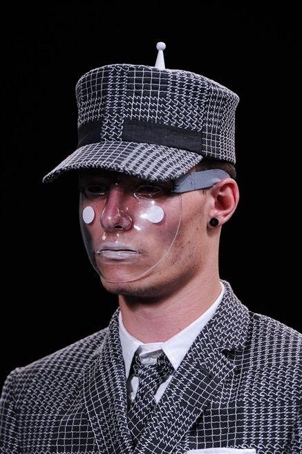 Nose, Mouth, Lip, Dress shirt, Collar, Chin, Formal wear, Jaw, Hat, Headgear,