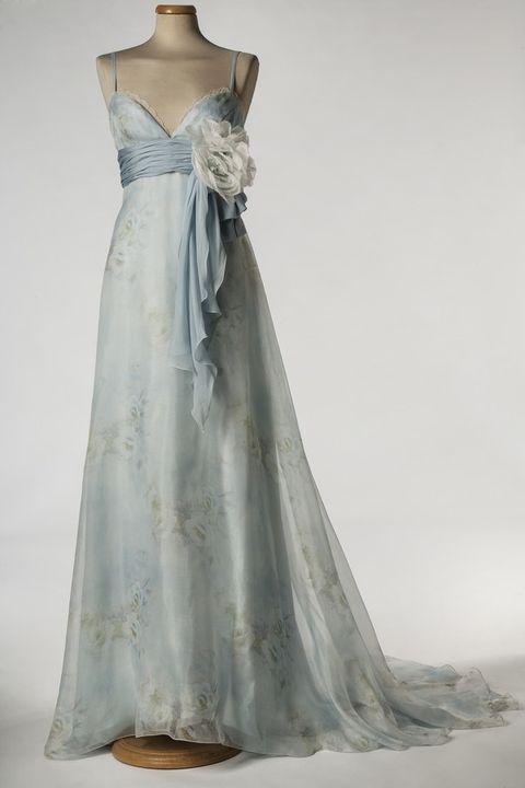 Clothing, Dress, Shoulder, Bridal clothing, Gown, Textile, White, One-piece garment, Wedding dress, Formal wear,