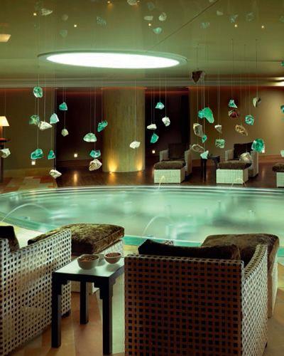 Interior design, Ceiling, Floor, Turquoise, Light fixture, Ceiling fixture, Teal, Interior design, Tile, Design,
