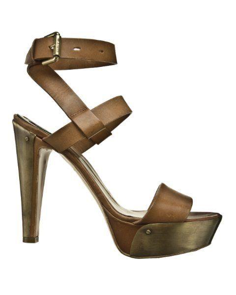 Brown, High heels, Sandal, Tan, Khaki, Beige, Fawn, Foot, Slingback, Leather,