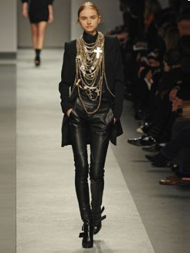 Clothing, Footwear, Fashion show, Brown, Runway, Joint, Outerwear, Fashion model, Style, Fashion,