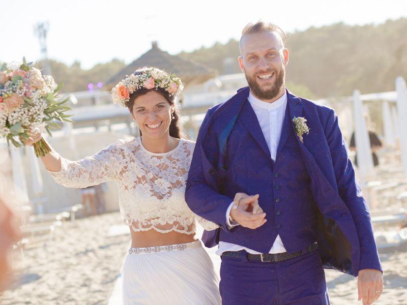 Matrimonio Bohemien Uomo : Matrimonio boho chic sulla spiaggia