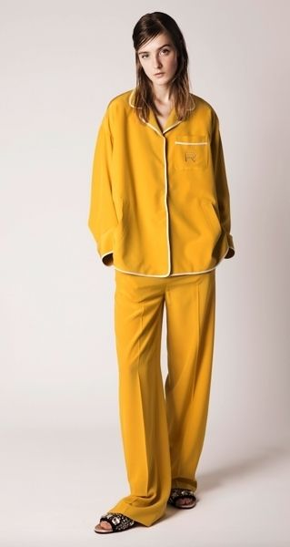 Yellow, Sleeve, Shoulder, Standing, Textile, Joint, Collar, Fashion, Costume, Workwear,