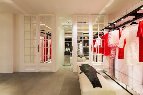 Floor, Room, Flooring, Interior design, Ceiling, Clothes hanger, Fixture, Closet, Outlet store,