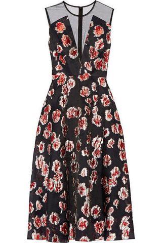 Vestito a fiori dallo stile 50 s con scollatura a V Saloni primavera estate  2016 1baa82a3d6d