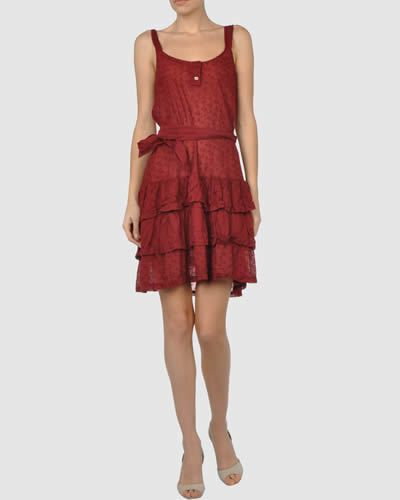 Clothing, Sleeve, Dress, Shoulder, Textile, Human leg, Joint, Standing, Red, One-piece garment,