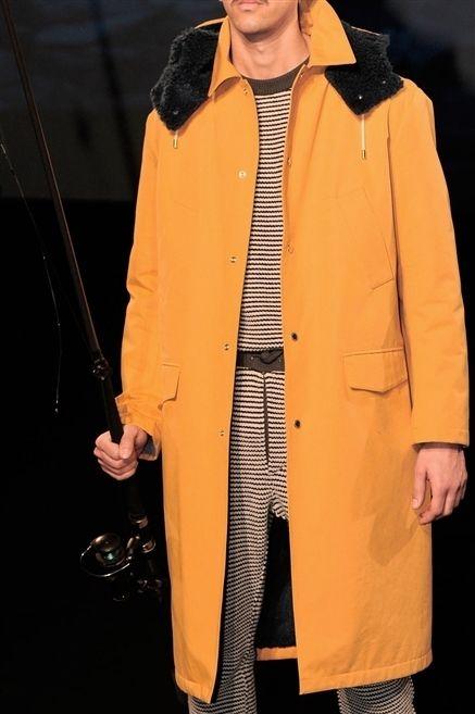 Jacket, Overcoat, Collar, Coat, Orange, Fashion, Blazer, Street fashion, Fur, Duster,